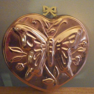 Vintage Copper Butterfly Jello Mold